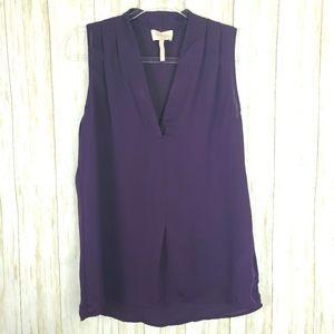 Laundry Segal Plum eggplant v-neck blouse small